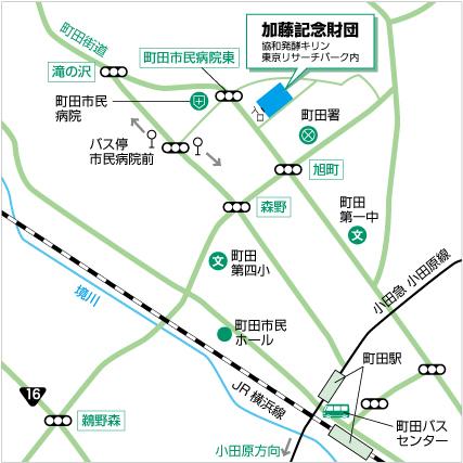 加藤財団地図